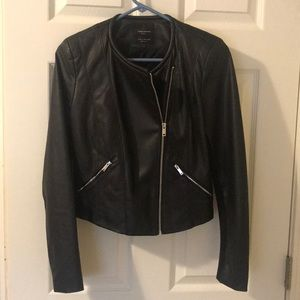 "Black ""leather"" jacket from Zara"